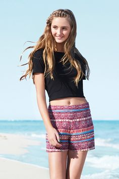 Bright tribal prints are mixed with crop tops in the new look generation 91 Summer Outfit For Teen Girls, Summer Fashion For Teens, Summer Fashion Trends, Summer Fashion Outfits, Boho Outfits, Spring Outfits, Teen Fashion, High Level, Teen Crop Tops