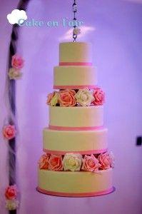 Gâteau de mariage suspendu 1