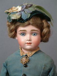 "Rare & Elusive 15.5"" All Original A.T. Kestner Swivel Head Lady Antique Doll"