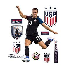 @Overstock   Fathead Alex Morgan Wall Decals   Fathead Wall Decals Are  Hi Definition Action Images That You Stick On Any Smooth Surface. You Can  Mou2026