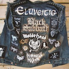 Somebody made a metal band denim jacket. Its pretty cool. I want it.