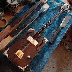 Electric Cigar Box Guitar 3 string