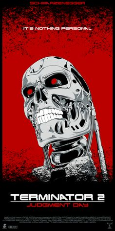 An great mix of flat and textured art make up this Terminator 2: Judgement Day poster by CranioDsgn