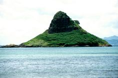 chinamans hat - Kaneohe Bay?  I got to climb to the top.  It was really hard!