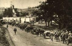 Czechoslovak legion marching at France.
