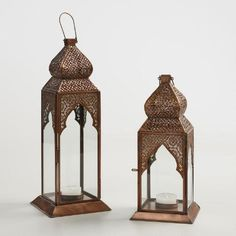 One of my favorite discoveries at WorldMarket.com: Antique Copper Layla Tabletop Lantern