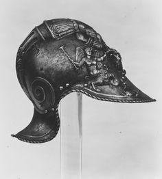 Burgonet after Filippo Negroli Date: ca. 1545–50 Geography: Milan Culture: Italian, Milan Medium: Embossed steel MET