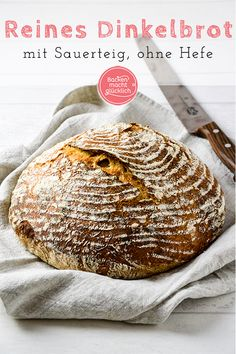 reines-dinkel-sauerteigbrot-ohne-hefe-backen-macht-glucklich/ delivers online tools that help you to stay in control of your personal information and protect your online privacy. Bread Without Yeast, No Yeast Bread, Sugar Bread, Yeast Bread Recipes, Sourdough Bread, Bread Baking, Lunch Recipes, Baby Food Recipes, Meat Recipes