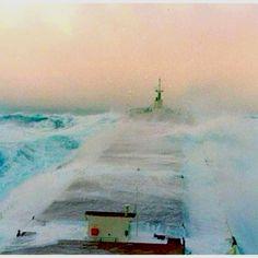 Tanker in rough sea Merchant Navy, Merchant Marine, Tanker Ship, Rogue Wave, Great Lakes Ships, Choppy Water, Giant Waves, Rough Seas, Stormy Sea
