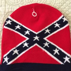 Bars & Stars flag beanie hat. NEW. Warm.                       Keywords- confederate flag, rebel flag, Dixie flag.         It's not hate its heritage. Accessories Hats