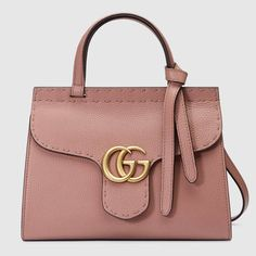 GUCCI Gg Marmont Leather Top Handle Mini Bag. #gucci #bags #leather #hand bags #