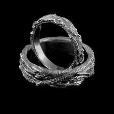 Banda di nozze albero corteccia femminile Design organico