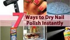 DIY Beauty Tricks - 5 Ways to Dry Nail Polish Instantly