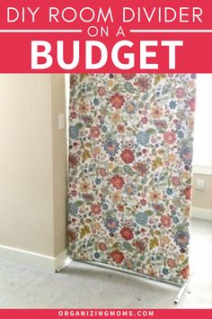 DIY Room Divider on a Budget. This easy to make room divider is an easy to build divider, and looks so much nicer than a cheap curtain. This moveable room divider is one of the best ideas for a temporary wall. Great for a basement, bedroom, office or school room, this room divider is easy to build and you may even be able to make it with upcycled materials. Check out the plan for how to make a room divider! Cheap Room Dividers, Diy Room Divider, Room Divider Curtain, Craft Room Ideas On A Budget, Craft Ideas, Budget Organization, Organizing Tips, Temporary Wall Divider, Basement Craft Rooms