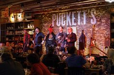 Local favorites, Jake Leg Stompers, on stage at Puckett's Murfreesboro