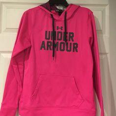 Under Armour Pink Hoodie Excellent Condition Under Armour Pink Semi-Fitted Hoodie! Under Armour Tops Sweatshirts & Hoodies