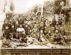 Macedonian Liberation Fighters during the struggle to liberate Macedonia from Turkish yoke and reunite it with the rest of Greece - 1913 Greek History, Freedom Fighters, Ottoman Empire, North Africa, Macedonia, Greece, Europe, Ocean, World