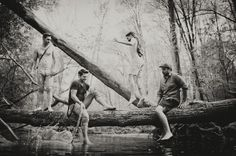 Band photography - in the woods