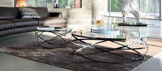 Obývací pokoje | Konferenční stolky | Designový moderní konferenční stůl SIA nerez sklo | Název vašeho webu