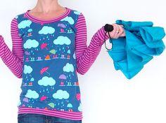 Shirt Joana aus tollem Lillesol Jersey. Perfekt geeignet für meine Ich-näh-Bio Linkparty  Made by Keko-Kreativ