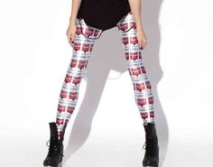 Campbells Soup Leggings Andy Warhol by LushTartApparelShop on Etsy, $14.00