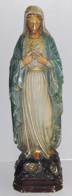 The Blessed Mother of The Immaculate Comception Home Madonna Figurine Comfy Hour 11 Religious Praying Virgin Mary Statue