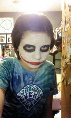 Look at my face paint... That I did!! That's my GIRL!!!!!!