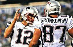 Tom Brady and Rob Gronkowski