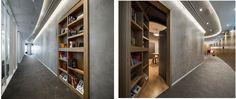Modern Door cum Library Design - Rethink - design by Swiss Bureau Interior Design LLC.