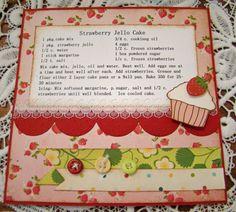 My favorite cake. Cupcake is Digi image from Two Paper Divas Homemade Recipe Books, Homemade Cookbook, Cookbook Recipes, Cookbook Ideas, Diy Recipe, Retro Recipes, Vintage Recipes, Family Recipe Book, Family Recipes