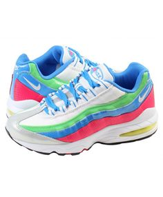 super popular 70b98 fe41c Nike Air Max 95 Junior Blue Pink Green Sale