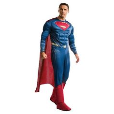 Men's Batman v Superman: Dawn of Justice Deluxe Superman Costume - One Size Fits…