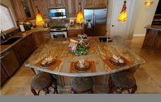 kitchens with stone islands | Kitchen Island traditional kitchen
