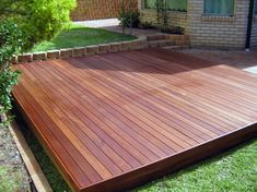 Give your backyard some style with a custom floating deck that creates new spaces and vantage points. Learn more about floating decks: Floating Deck Plans, Building A Floating Deck, Building A Deck, Floating Garden, Floating Desk, Backyard Patio Designs, Low Deck Designs, Small Backyard Decks, Deck Design Plans