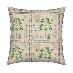 Cannabis Botanical custom fabric by camomoto for sale on Spoonflower
