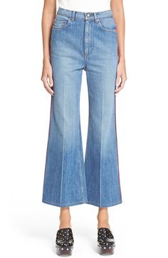 278 MARC BY MARC JACOBS Flare Crop Denim Trousers available at #Nordstrom