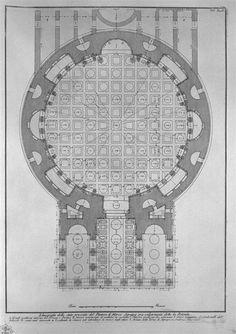 118 Piranesi - Pantheon - plan