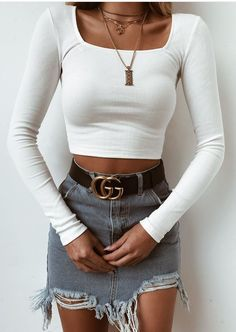 100 Styles That Will Pull You Out Of The Ordinary - Herren- und Damenmode - Kleidung Mode Outfits, Trendy Outfits, Winter Outfits, Summer Outfits, Evening Outfits, Look Fashion, 90s Fashion, Fashion Outfits, Womens Fashion