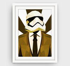 Printable Art Abstract Star Wars Art Print Black Gold Stormtrooper Art Print art…