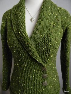 Ravelry: Lapsa& Sapnis par pavasari & Dream of Spring Sweater Knitting Patterns, Cardigan Pattern, Knitting Stitches, Knit Patterns, Free Knitting, Knit Cardigan, Knit Sweaters, Knit Jacket, Knit Or Crochet