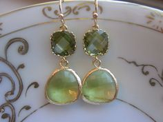 love these! peridot and gold filled