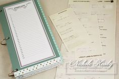 Birthday Organization  SEE MORE WONDERFUL DOWNLOADABLE THINGS IN THIS BLOG