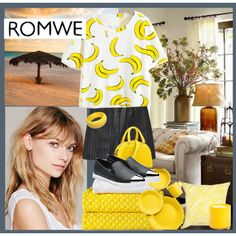 romwe: bannanas by ceci-alva on Polyvore featuring Mode, Alexander Wang, Miu Miu, Free People, Fiesta, Bandhini Homewear Design, LAFCO, Christian Louboutin and romwe