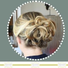 Popularized by Eva Longoria, this messy updo gets a lot of requests. She loved it. Bridal Chignon, Bridal Hair Buns, Messy Updo, Eva Longoria, Bun Hairstyles, Updos, Looks Great, Hair Accessories, Makeup