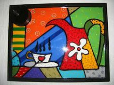 Britto Art Pop, Painted Trays, Painted Rocks, Rock Crafts, Arts And Crafts, Funky Painted Furniture, Arte Country, Indian Folk Art, Easy Paintings
