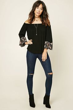Contemporary Bell-Sleeve Top   LOVE21 - 2000231221