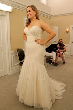Season 14 Featured Dress: Michelle and Henry Roth. Ball gown, rouching on top.  $2,275.