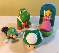 Nintendo Super Mario Brothers Toy Figure Lot Luigi Yoshi Mushroom Princess Peach #Nintendo