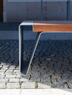 mmcité - products - park benches - radium Concrete Furniture, Iron Furniture, Street Furniture, Garden Furniture, Office Furniture Design, Chair Design, Steel Gate Design, Wall Seating, Bench Designs