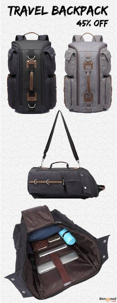 US$60.04 + Free shipping. Men Backpack, Backpack with Large Capacity, Travel Backpack, Canvas Bag, Hiking Handbag, Outdoor Crossbody Bag. Material: Canvas. Color: Black, Grey. Dual-Use Design,One Bag, Two Styles.